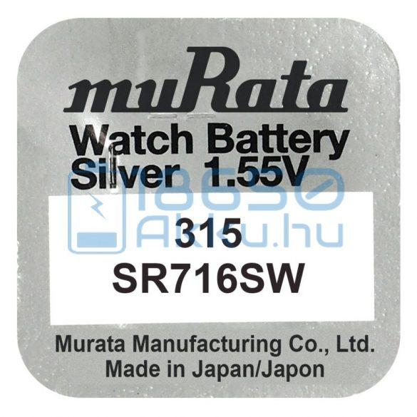 Murata 315 / SR716SW Ezüst-Oxid Gombelem