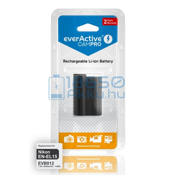 EverActive CamPro (Nikon EN-EL15) Fényképezőgép Akkumulátor (EVB012)
