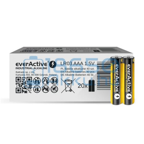 EverActive Industrial Alkáli Tartós (AAA / LR03) Mikro Elem (2db)