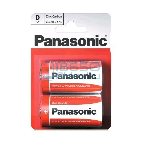 Panasonic Cink-Szén Féltartós (D / R20) Góliát Elem (2db)