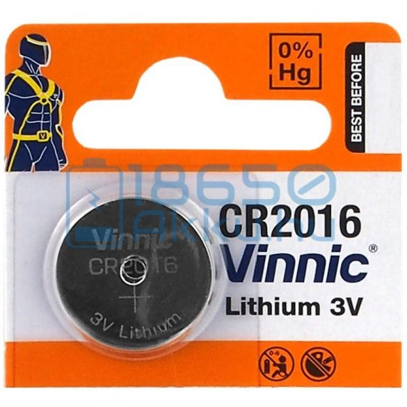 Vinnic CR2016 Lítium Gombelem
