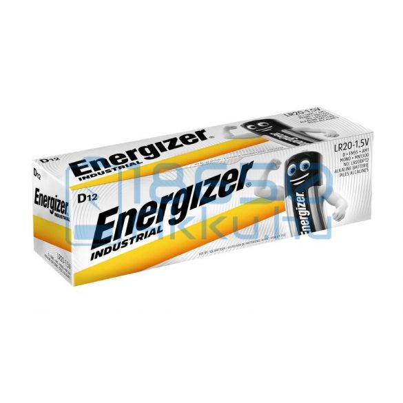 Energizer Industrial Alkáli Tartós (D / LR20) Góliát Elem (12db)
