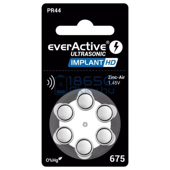EverActive Ultrasonic Implant HD 675 / PR44 Hallókészülék Elem