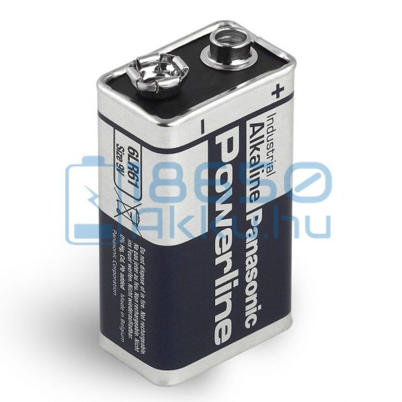 Panasonic Powerline Industrial 6LR61 9V Alkáli Elem
