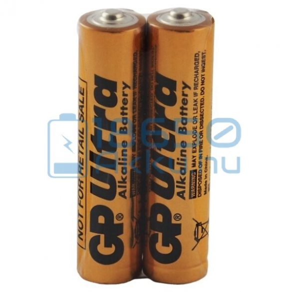 GP Ultra Alkaline Industrial Alkáli Tartós (AAA / LR03) Mikro Elem (2db)