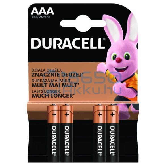 Duracell Basic Duralock Alkáli Tartós (AAA / LR03 / MN2400) Mikro Elem (4db)