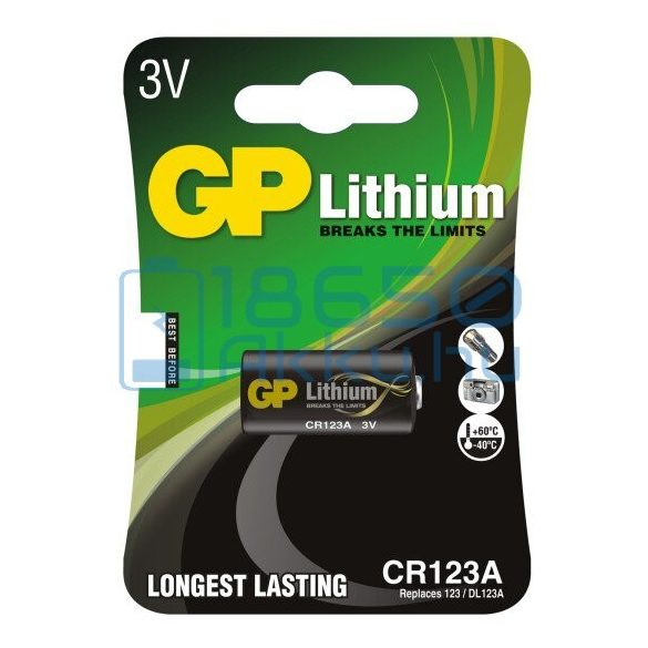 GP CR123 Lítium Elem