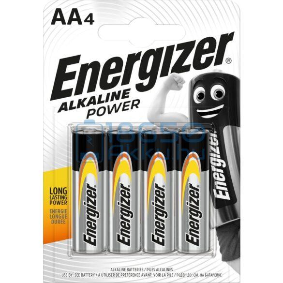 Energizer Alkaline Power Alkáli Tartós (AA / LR6) Ceruza Elem (4db)