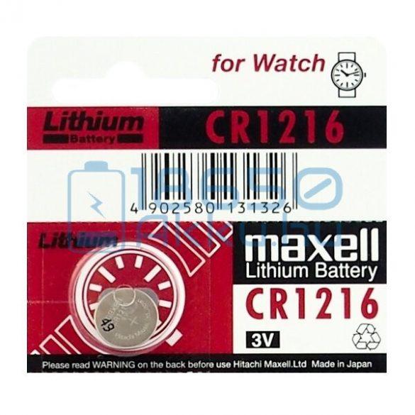 Maxell CR1216 Lítium Gombelem