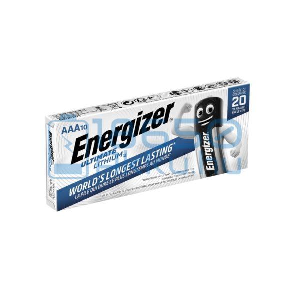Energizer Ultimate Lithium Extra Tartós Lítium (AAA / R03 / L92) Mikro Elem (10db)