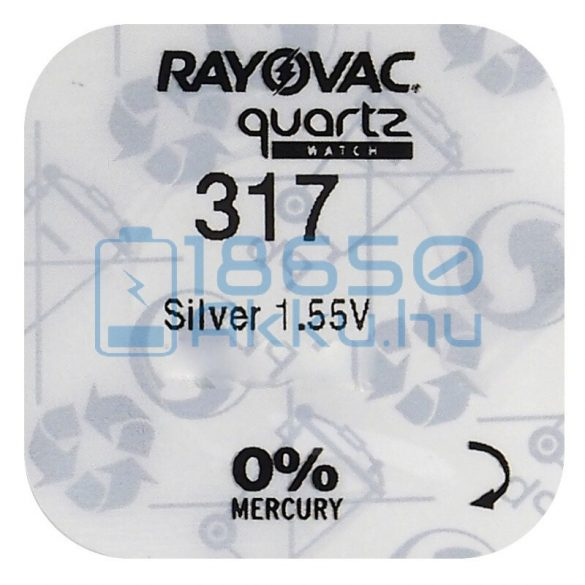 Rayovac 317 Ezüst-Oxid Gombelem