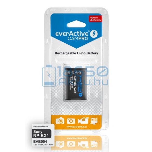 EverActive CamPro (Sony NP-BX1) Fényképezőgép Akkumulátor (EVB004)