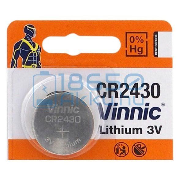 Vinnic CR2430 Lítium Gombelem
