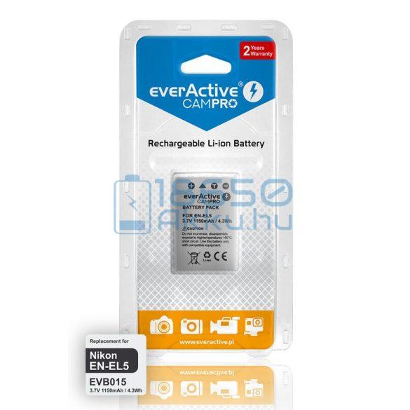 EverActive CamPro (Nikon EN-EL5) Fényképezőgép Akkumulátor (EVB015)