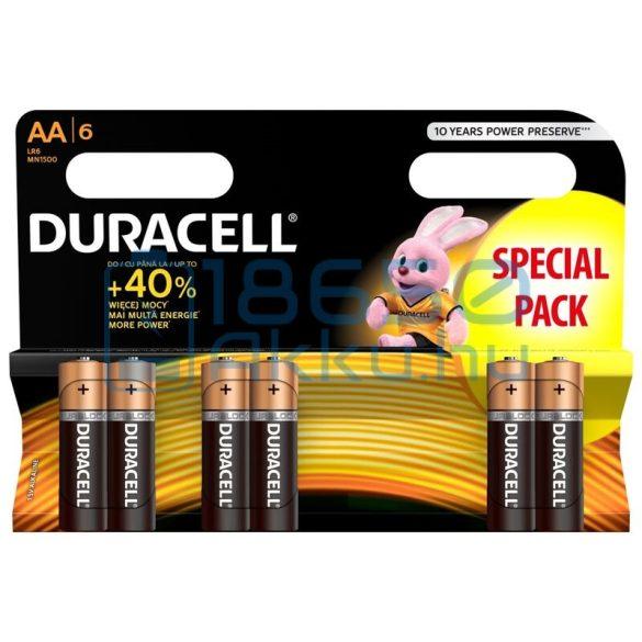 Duracell Basic Duralock Alkáli Tartós (AA / LR6 / MN1500) Ceruza Elem (6db)