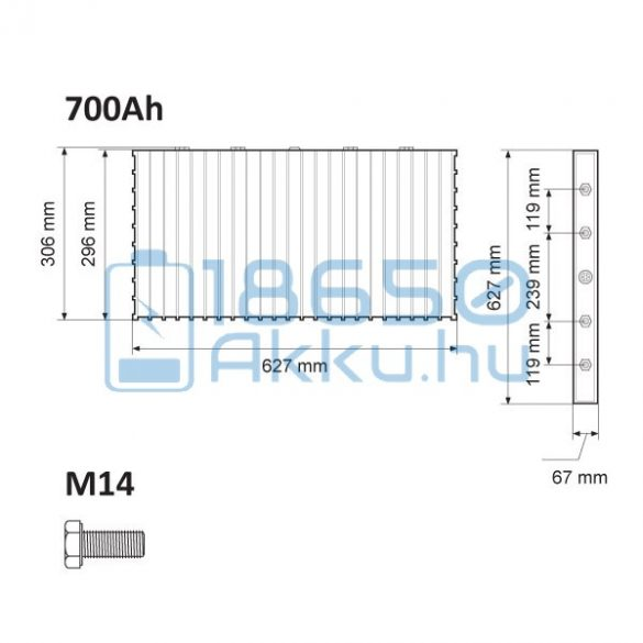 Winston (WB-LYP700AHA) 700Ah LiFePO4 Akkumulátor