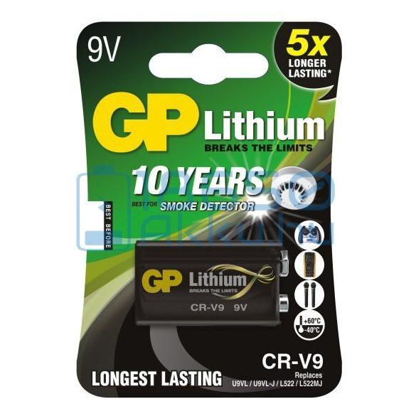 GP Lithium 6F22 / LA522 / CR-V9 9V Extra Tartós Lítium Elem