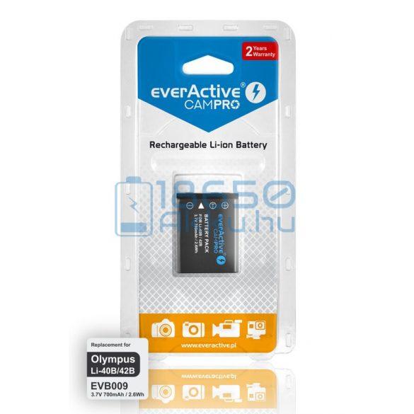 EverActive CamPro (Olympus LI-40B / Olympus LI-42B) Fényképezőgép Akkumulátor (EVB009)