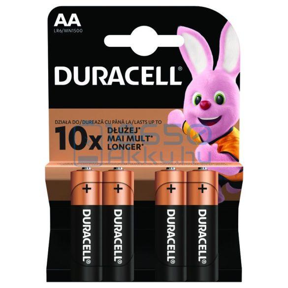 Duracell Duralock Basic Alkáli Tartós (AA / LR6 / MN1500) Ceruza Elem (4db)