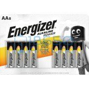 Energizer Alkaline Power Alkáli Tartós (AA / LR6) Ceruza Elem (8db)
