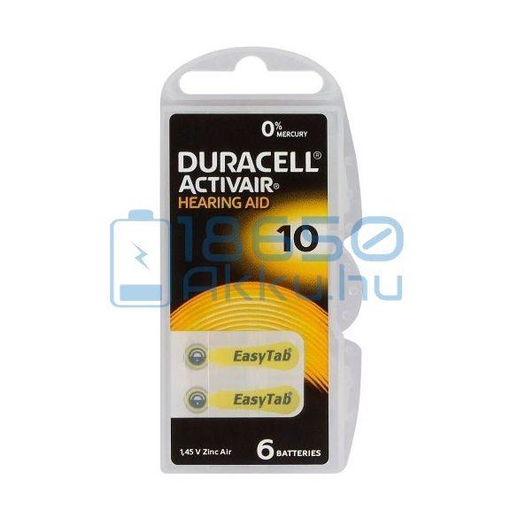 Duracell ActivAir 10 Hallókészülék Elem