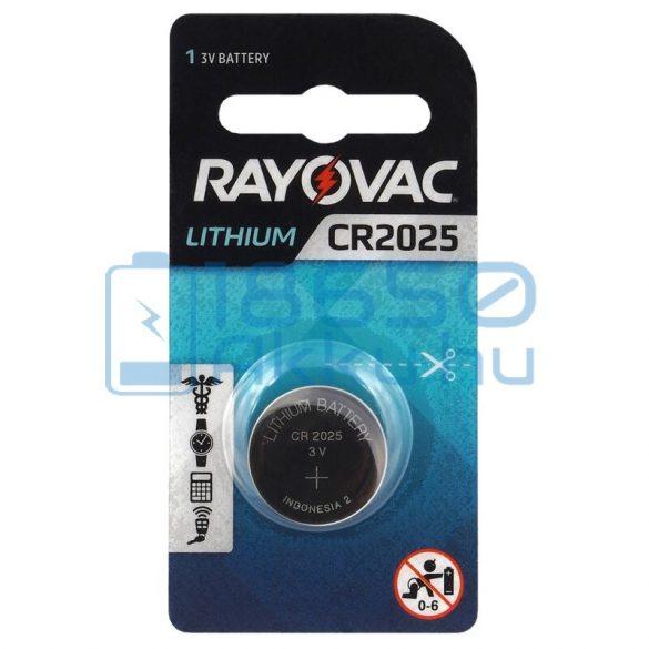 Rayovac CR2025 Lítium Gombelem