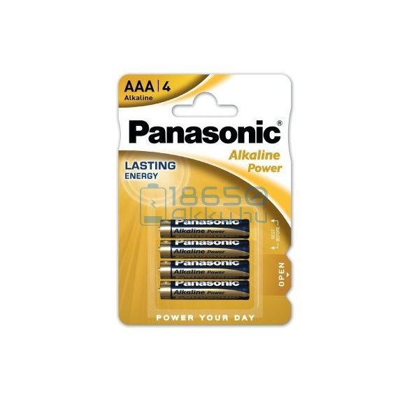 Panasonic Alkaline Power Alkáli Tartós (AAA / LR03) Mikro Elem (4db)