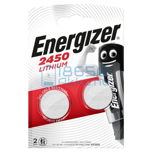 Energizer CR2450 Lítium Gombelem (2db)