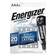 Energizer Ultimate Lithium Extra Tartós Lítium (AAA / R03 / L92) Mikro Elem (4db)