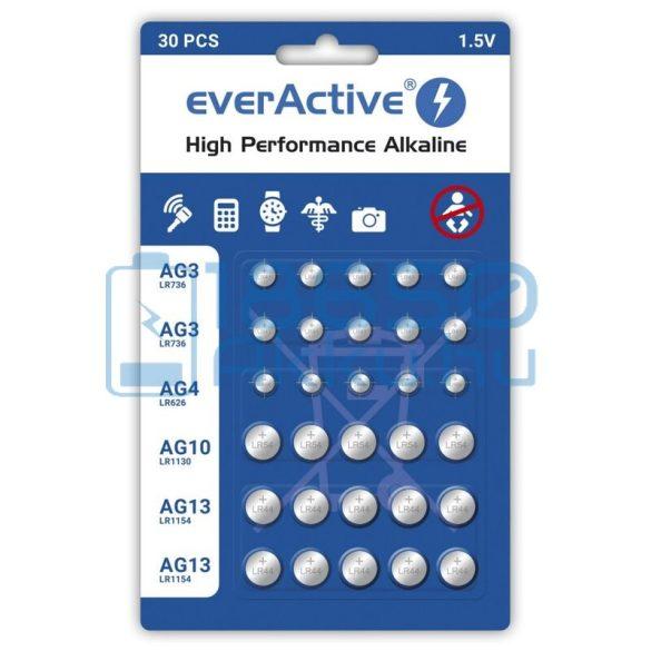 EverActive Alkáli Gombelem Csomag (30db)