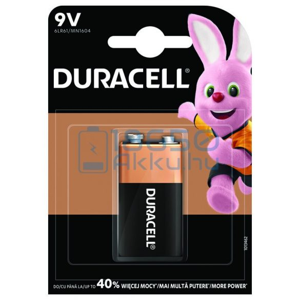 Duracell Basic Duralock 6LR61 / MN1604 9V Alkáli Elem
