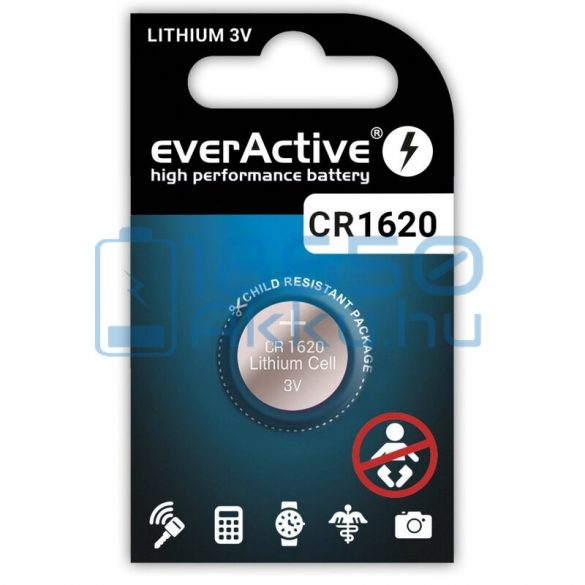 EverActive CR1620 Lítium Gombelem