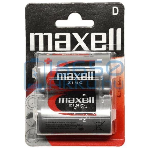 Maxell Cink-Szén Féltartós (D / R20) Góliát Elem (2db)