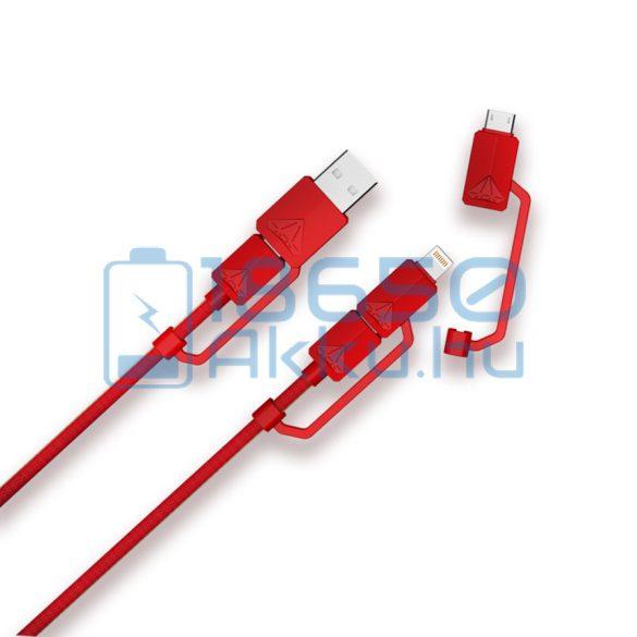 XTAR PDC-3 Univerzális töltő kábel Piros