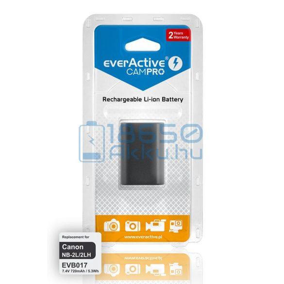 EverActive CamPro (Canon NB-2L / Canon NB-2LH) Fényképezőgép Akkumulátor (EVB017)