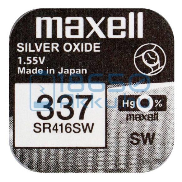 Maxell 337 / SR416SW Ezüst-Oxid Gombelem