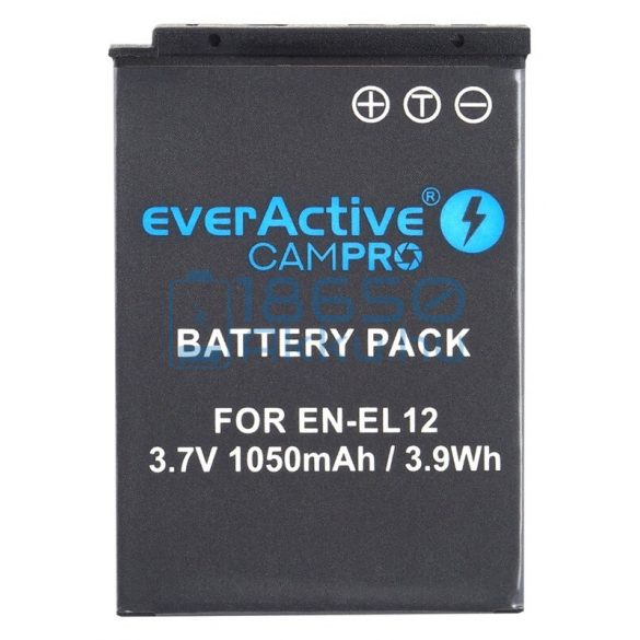 EverActive CamPro (Nikon EN-EL12) Fényképezőgép Akkumulátor (EVB014)