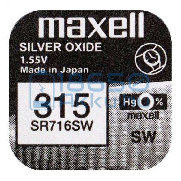 Maxell 315 / SR716SW Ezüst-Oxid Gombelem