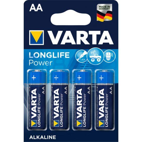 Varta Longlife Power Alkáli Tartós (AA / LR6) Ceruza Elem (4db)