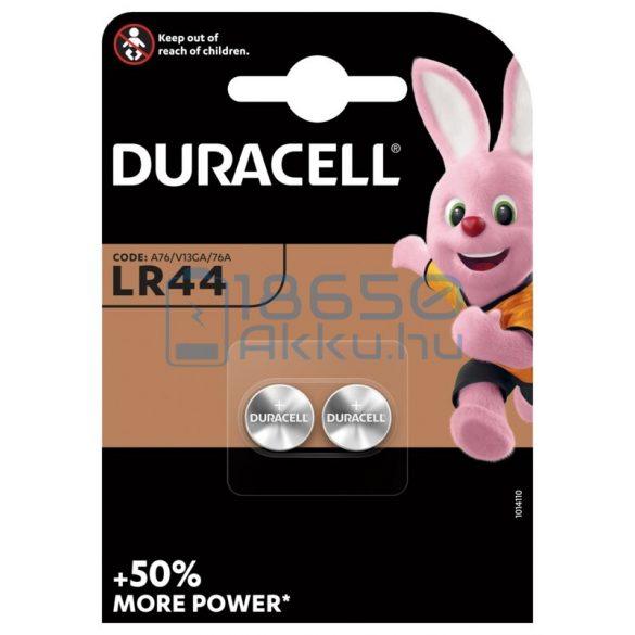 Duracell AG13 / LR44 Alkáli Gombelem (2db)