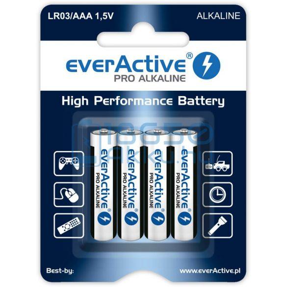 EverActive Pro Alkáli Tartós (AAA / LR03) Mikro Elem (4db)