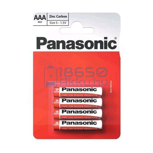 Panasonic Cink-Szén Féltartós (AAA / R03) Mikro Elem (4db)