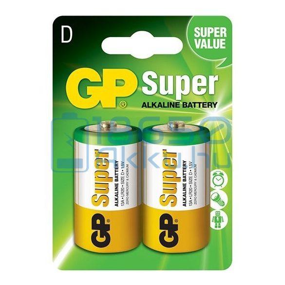 GP Super Alkáli Tartós (D / LR20) Góliát Elem (2db)