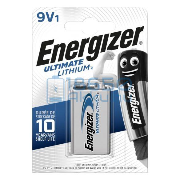 Energizer Ultimate Lithium 6F22 / LA522 9V Extra Tartós Lítium Elem