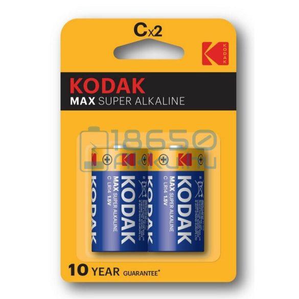 Kodak Max Alkáli Tartós (C / LR14) Baby Elem (2db)