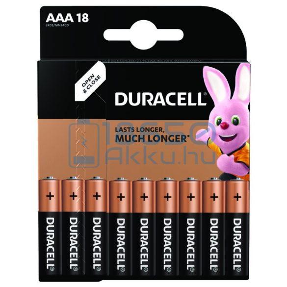 Duracell Basic Duralock Alkáli Tartós (AAA / LR03 / MN2400) Mikro Elem (18db)