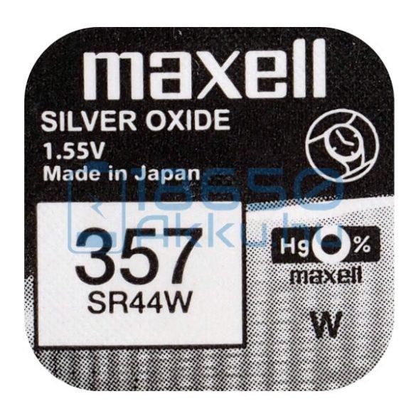 Maxell 357 / SR44W Ezüst-Oxid Gombelem