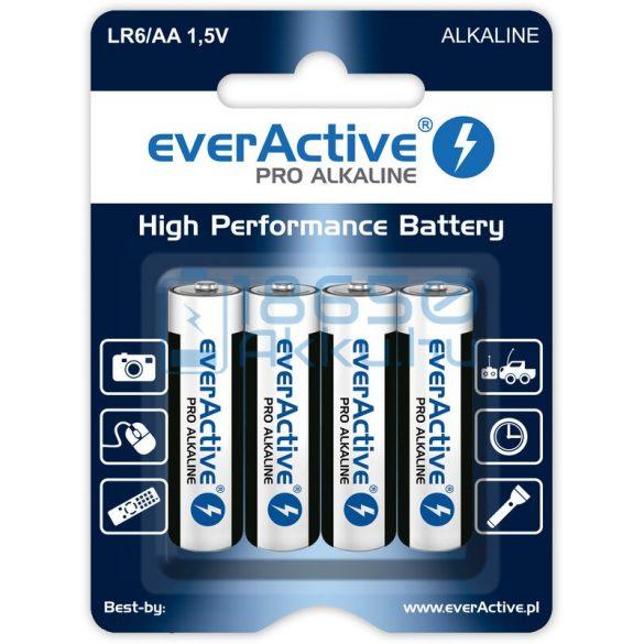 EverActive Pro Alkáli Tartós (AA / LR6) Ceruza Elem (4db)