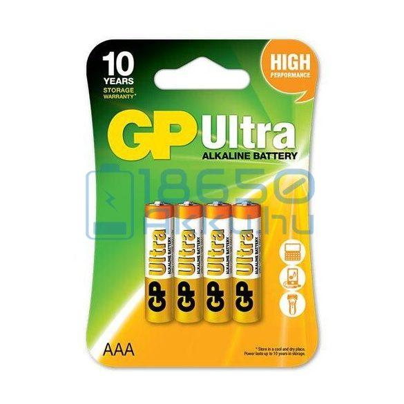 GP Ultra Alkáli Tartós (AAA / LR03) Mikro Elem (4db)