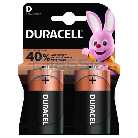 Duracell Basic Alkáli Tartós (D / LR20 / MN1300) Góliát Elem (2db)